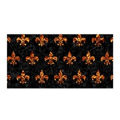 Royal1 Black Marble & Copper Foil (r) Satin Wrap by trendistuff