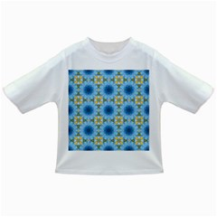 Blue Nice Daisy Flower Ang Yellow Squares Infant/toddler T Shirts