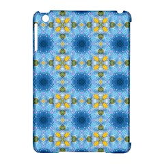 Blue Nice Daisy Flower Ang Yellow Squares Apple Ipad Mini Hardshell Case (compatible With Smart Cover) by MaryIllustrations