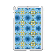 Blue Nice Daisy Flower Ang Yellow Squares Ipad Mini 2 Enamel Coated Cases by MaryIllustrations