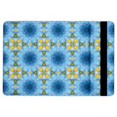 Blue Nice Daisy Flower Ang Yellow Squares Ipad Air 2 Flip by MaryIllustrations