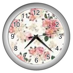 Downloadv Wall Clocks (silver)  by MaryIllustrations