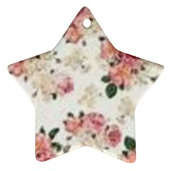 Pink And White Flowers  Star Ornament (two Sides) by MaryIllustrations