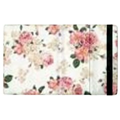 Pink And White Flowers  Apple Ipad 3/4 Flip Case by MaryIllustrations