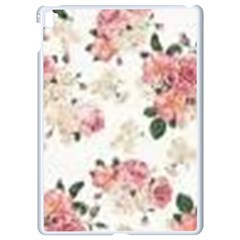 Pink And White Flowers  Apple Ipad Pro 9 7   White Seamless Case by MaryIllustrations