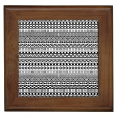Aztec Influence Pattern Framed Tiles by ValentinaDesign
