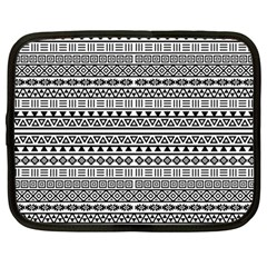 Aztec Influence Pattern Netbook Case (large) by ValentinaDesign