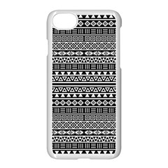 Aztec Influence Pattern Apple Iphone 7 Seamless Case (white) by ValentinaDesign