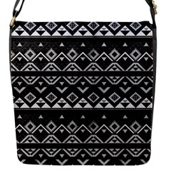 Aztec Influence Pattern Flap Messenger Bag (s) by ValentinaDesign