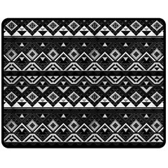 Aztec Influence Pattern Double Sided Fleece Blanket (medium)  by ValentinaDesign