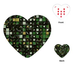 Small Geo Fun C Playing Cards (heart)  by MoreColorsinLife