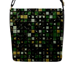 Small Geo Fun C Flap Messenger Bag (l)  by MoreColorsinLife