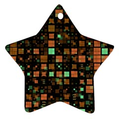Small Geo Fun A Ornament (star) by MoreColorsinLife