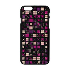 Small Geo Fun D Apple Iphone 6/6s Black Enamel Case by MoreColorsinLife
