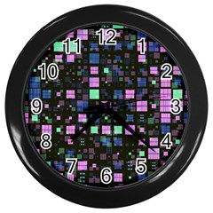 Small Geo Fun B Wall Clocks (black) by MoreColorsinLife