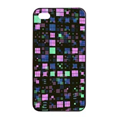 Small Geo Fun B Apple Iphone 4/4s Seamless Case (black) by MoreColorsinLife