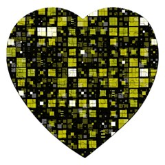 Small Geo Fun F Jigsaw Puzzle (heart) by MoreColorsinLife