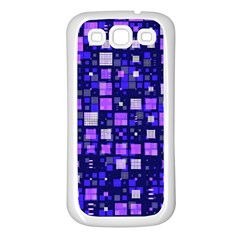 Small Geo Fun E Samsung Galaxy S3 Back Case (white) by MoreColorsinLife