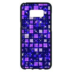 Small Geo Fun E Samsung Galaxy S8 Plus Black Seamless Case by MoreColorsinLife