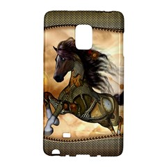Steampunk, Wonderful Steampunk Horse With Clocks And Gears, Golden Design Galaxy Note Edge by FantasyWorld7