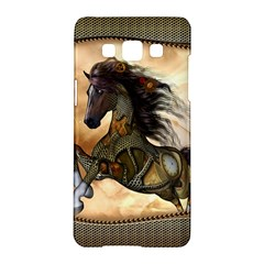 Steampunk, Wonderful Steampunk Horse With Clocks And Gears, Golden Design Samsung Galaxy A5 Hardshell Case  by FantasyWorld7