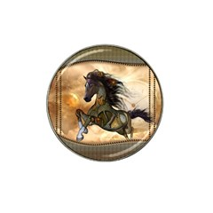 Steampunk, Wonderful Steampunk Horse With Clocks And Gears, Golden Design Hat Clip Ball Marker (10 Pack) by FantasyWorld7