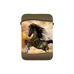Steampunk, Wonderful Steampunk Horse With Clocks And Gears, Golden Design Apple Ipad Mini Protective Soft Cases by FantasyWorld7