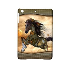 Steampunk, Wonderful Steampunk Horse With Clocks And Gears, Golden Design Ipad Mini 2 Hardshell Cases by FantasyWorld7