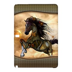 Steampunk, Wonderful Steampunk Horse With Clocks And Gears, Golden Design Samsung Galaxy Tab Pro 10 1 Hardshell Case by FantasyWorld7