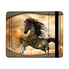 Steampunk, Wonderful Steampunk Horse With Clocks And Gears, Golden Design Samsung Galaxy Tab Pro 8 4  Flip Case by FantasyWorld7