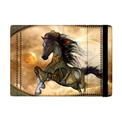 Steampunk, Wonderful Steampunk Horse With Clocks And Gears, Golden Design Ipad Mini 2 Flip Cases by FantasyWorld7