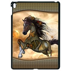 Steampunk, Wonderful Steampunk Horse With Clocks And Gears, Golden Design Apple Ipad Pro 9 7   Black Seamless Case by FantasyWorld7