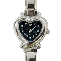 Abstract Art Heart Italian Charm Watch by ValentinaDesign