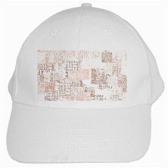 Abstract Art White Cap by ValentinaDesign