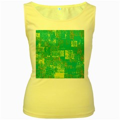 Abstract Art Women s Yellow Tank Top