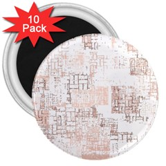 Abstract Art 3  Magnets (10 Pack)