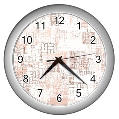 Abstract Art Wall Clocks (silver)