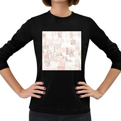 Abstract Art Women s Long Sleeve Dark T Shirts
