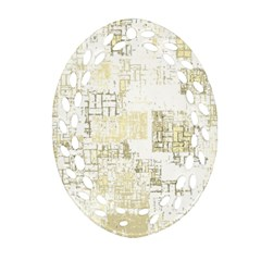 Abstract Art Oval Filigree Ornament (two Sides) by ValentinaDesign