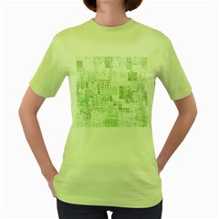 Abstract Art Women s Green T Shirt