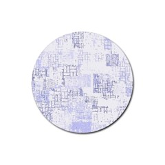 Abstract Art Rubber Round Coaster (4 Pack)  by ValentinaDesign