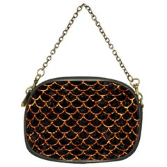 Scales1 Black Marble & Copper Foil Chain Purses (one Side)  by trendistuff