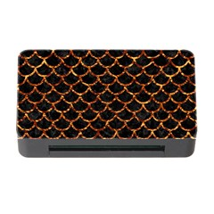 Scales1 Black Marble & Copper Foil Memory Card Reader With Cf by trendistuff