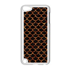 Scales1 Black Marble & Copper Foil Apple Ipod Touch 5 Case (white) by trendistuff