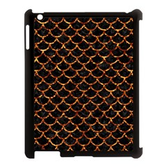 Scales1 Black Marble & Copper Foil Apple Ipad 3/4 Case (black) by trendistuff