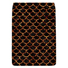 Scales1 Black Marble & Copper Foil Flap Covers (s)  by trendistuff