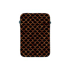 Scales1 Black Marble & Copper Foil Apple Ipad Mini Protective Soft Cases by trendistuff