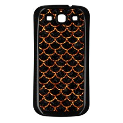 Scales1 Black Marble & Copper Foil Samsung Galaxy S3 Back Case (black) by trendistuff