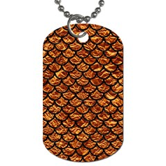 Scales1 Black Marble & Copper Foil (r) Dog Tag (one Side) by trendistuff