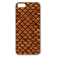 Scales1 Black Marble & Copper Foil (r) Apple Seamless Iphone 5 Case (clear) by trendistuff